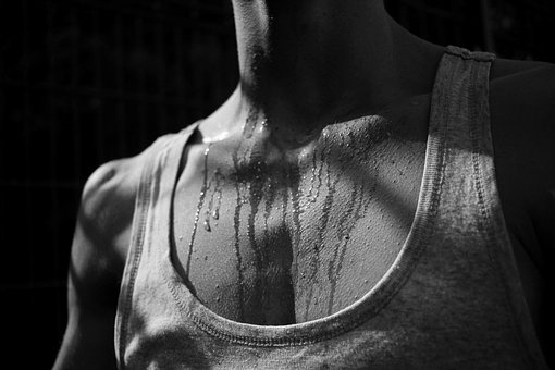 Problem of excessive sweating without any physical exercise or workout. The hyperhidrosis disorder.