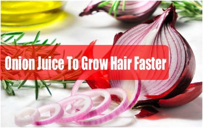 Onion juice for quick hair growth